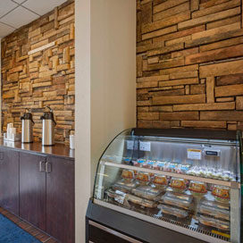 snack and coffee bar in lobby